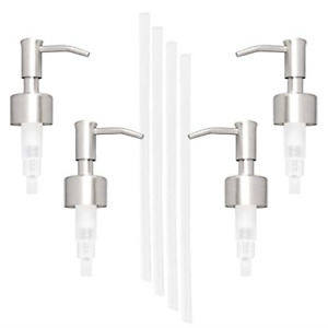 4Pk Stainless Steel And Durable Plastic Soap Lotion Replacement Dispensers Pump