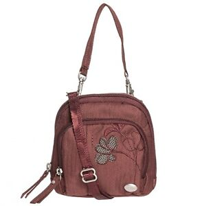 Haiku POUCH BAG Crossbody Shoulder Bag Purse ANDORRA Burgundy Floral Design NWT