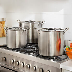 BrylaneHome 6 Pc. Stainless Steel Stockpot Set