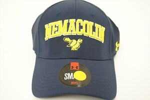 NEW Under Armour Nemacolin Woodlands Hat FITTED Mens Small Blue Yellow W Logo $24.95
