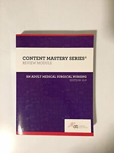 RN Adult Medical Surgical Nursing Edition 10. 0 by Author Book The Fast Free