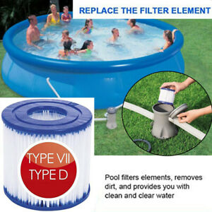 2 Pcs Summer Waves Swimming Pool Filter Cartridge Universal Type D