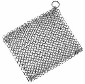 Stainless Steel Cast Iron Skillet Cleaner Chainmail Cleaning Scrubber