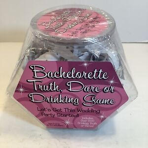 BACHELORETTE TRUTHDARE OR DRINKING GAME INCLUDES 500 PAPERS New Sealed