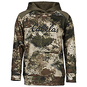 Cabela#x27;s Men#x27;s Ultra Quiet O2 OCTANE Camo Layering Silent Hunting Hoodie