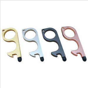 4PCS Clean Key Door Opener Handheld Brass EDC Keychain No Touch Safe Hand Tool