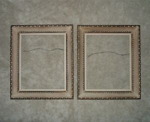 1 or 2 Notched Wood Picture Frames Mid Century Modern for 16quot; x 20quot; Opening for $125.10