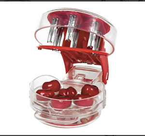 Cherry Pitter Cherrystone Remover Mess Free 6 Capacity At Once Dishwasher Safe $7.99