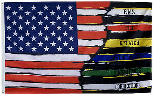 American Thin Multi Line Flag USA Support Police First Blue Line 3x5ft banner