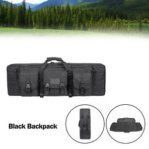 36quot; Heavy Duty Double Carbine Rifle Bag Soft Gun Case Hunting Storage Backpack B