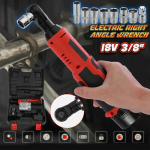 Cordless 3 8In Electric 18V Ratchet Wrench Tool Set w Battery amp; Charger Kit $48.98