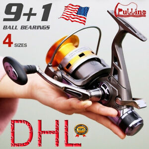 PULLINE SaltFresh Water Spinning Fishing Reel 91BB Metal Big Fishing Reels