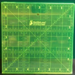 Square Quilting Rulers 4.5 6 6.5 7 8 8.5 Inch Patchwork Quilt Matilda#x27;s Own AU $11.95
