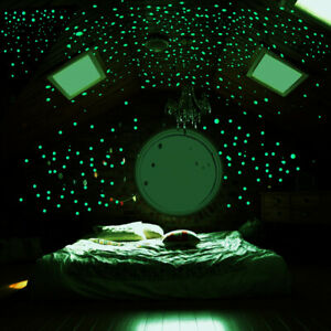 3 Pack Green Luminous Fluorescence Star Round Dot Wall Stickers Decor Vinyl Art