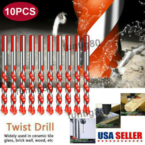 10X Ultimate Drill Bits Multifunctional Ceramic Glass Hole Working Set US STOCK