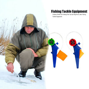 Outdoor Winter Ice Fishing Rod Flag Tip-Up River Lake Fishing Tackle Equipment