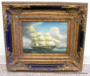 Samuel Walters (1811-1882) Antique Oil Painting Of A Ship~COA From Prestige Arts $700.00