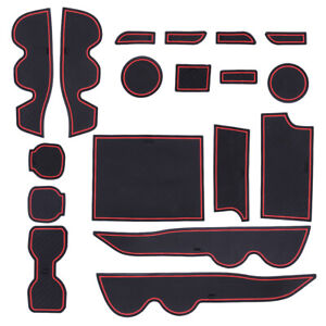 18pc Cup Door Center Console Liner Mat Trim Pad Fit For Toyota Tacoma 16 2019 e $24.11