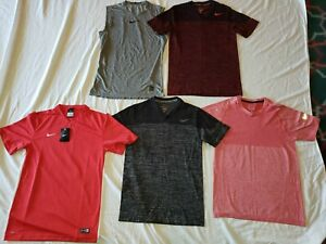 Lot of 5 Nike Running Workout Athletic SS Shirts Men's Small Dri Fit Miler PRO $17.99