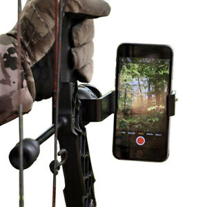 Bow Mount Smartphone Phone Holder for Compound Recurve Archery Hunting Holder