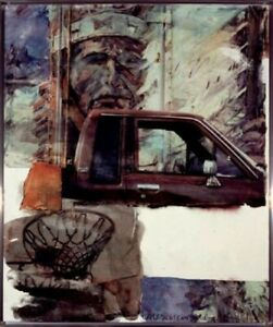 ROBERT RAUSCHENBERG AMERICAN INDIAN SIGNED ORIGINAL PIGMENT ON PAPER HAND SIGNED $3,200.00