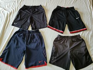 Lot Of 4 Nike Dri Fit UNDER ARMOUR MENS BASKETBALL SHORTS Workout ATHLETIC LARGE $32.00