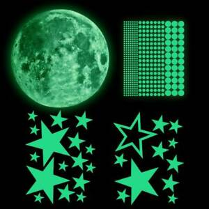Wall Stickers Luminous Stars Moon Planet Decal Glow In The Dark Kids Room Decor