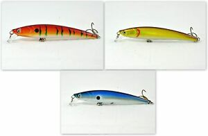 Pack of 3 Akuna Magic Minnow 4.3quot; Topwater Minnow Bass Trout Fishing Lures