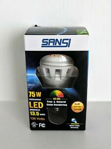 Sansi A19 LED Bulb - 13.5W (Replaces 75W) 120V - 3000K Soft White Dimmable - NEW