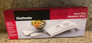 NEW ~ Chefmate Heavy-Duty Mandoline Slicer Set ~ Slice Shred Grate Zest