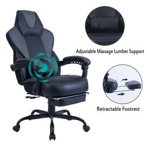 Ergonomic Computer Gaming Chair High back Chair Swivel Racing PC Chair Footrest