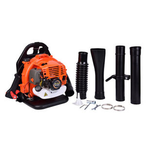 52CC 3.2HP 2Stroke Gas Backpack Powered Leaf Blower Debris w/Padded Harness EPA.