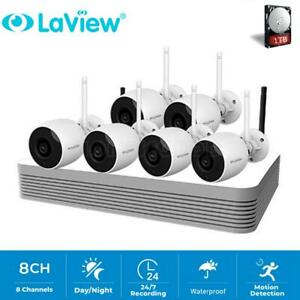 LaView 8CH Wireless 1080P NVR Outdoor Home WIFI Camera CCTV Security System Kit
