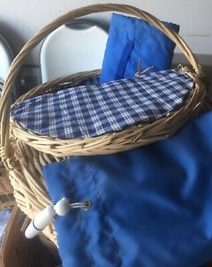 Lined Picnic Basket + 2 Thermal Wine Coolers