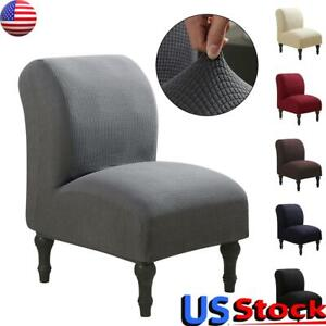 Slipper Chair Slipcovers Stretch Elastic Armless Chair Cover Protector Home Deco