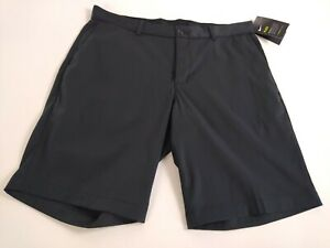 Nike Golf Dri Fit Athletic Casual Flat Front Golf Shorts Mens Size 34 Black NEW $39.99