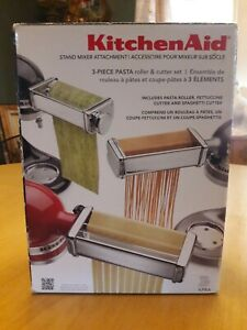 KitchenAid 3 Piece Pasta Roller and Cutter Attachment Set Made in Italy