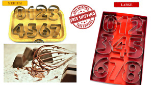 Number Shape Cookie Cutter  9Pcs/set Large/medium  Size Stainless Steel Mold