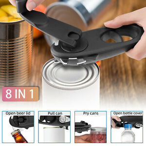 8in1 Can Lid Opener Safety Manual Opener Smooth Edge Household Kitchen Bar Tool