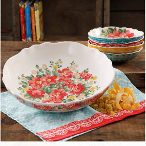 Pasta Bowl Set Vintage Floral 5-Piece by The Pioneer Woman