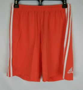 Adidas Condivo 18 Workout Shorts Orange White Men#x27;s Small $21.63