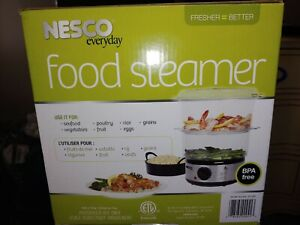 NESCO Food Steamer With Rice Bowl Double Decker BPA FREE 5 Quart ST 25F