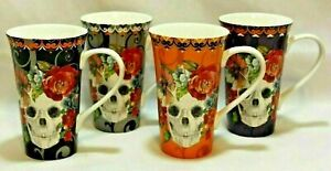 4X Set 222 Fifth Hallow Apothecary Halloween Tall Coffee Mugs Cups Snake Frog ..