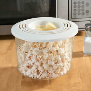 NEW Microwave Popcorn Popper Holds Up To 10 Cups Of Popcorn White