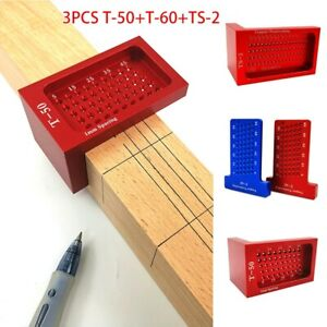 Precision Aluminum Alloy T Square Hole Measuring Woodworking Scriber Ruler $37.85