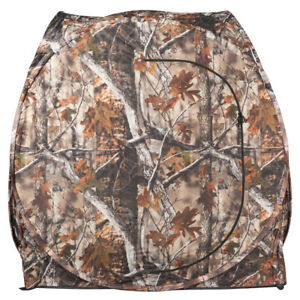 Portable Hunting Waterproof Pop Up Camouflage Ground Blind w Mesh Windows