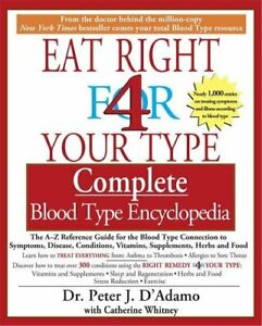 Eat Right for Your Type Complete Blood Type Encycl... by Peter D#x27;Adamo Paperback $8.19