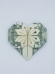 Dollar Money Origami Heart