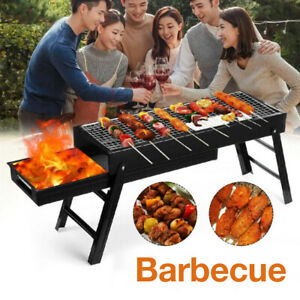 BBQ Barbecue Grill Charcoal Kabob Stove Camping Outdoor Cooking Folding Portable