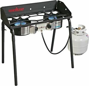 Camp Chef Explorer Deluxe Face Plate 2 Burner Stove Portable Camping 60000 BTUs